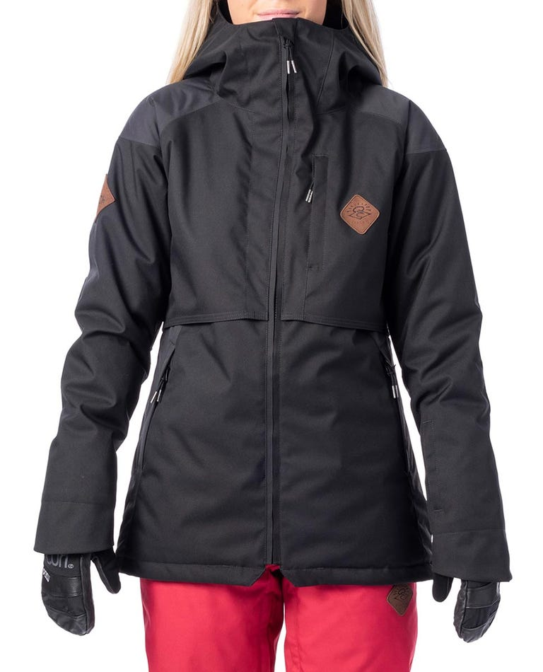 Womens Search Snow Jacket in Jet Black