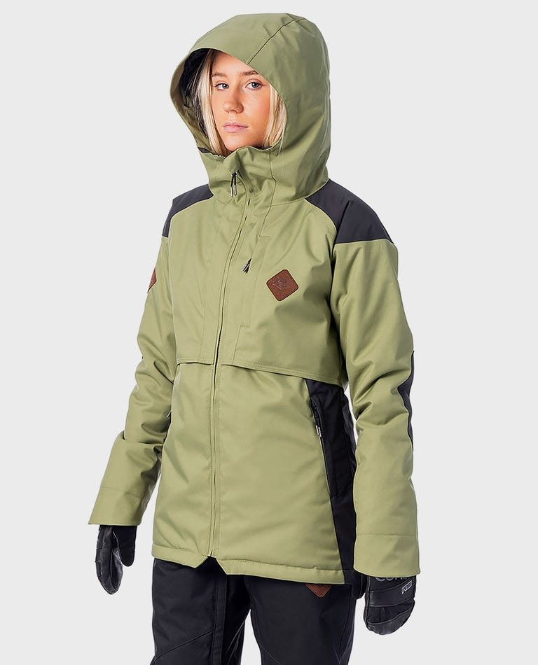 Womens Search Snow Jacket in Loden Green