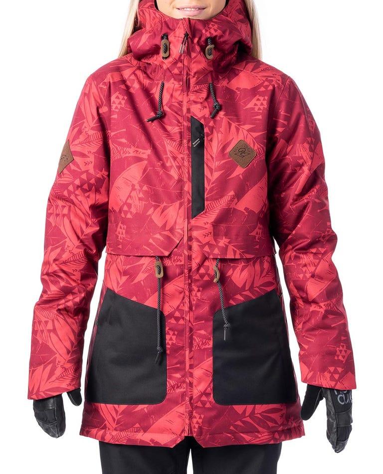Amity Snow Jacket  in Deep Claret