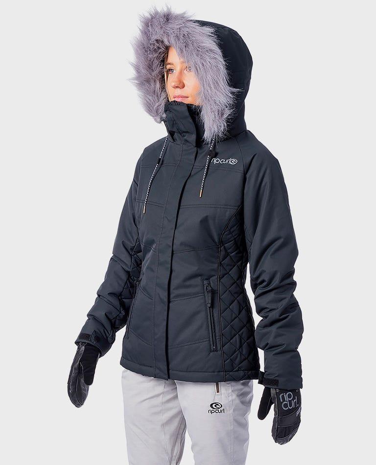 Fluffy Snow Jacket  in Jet Black