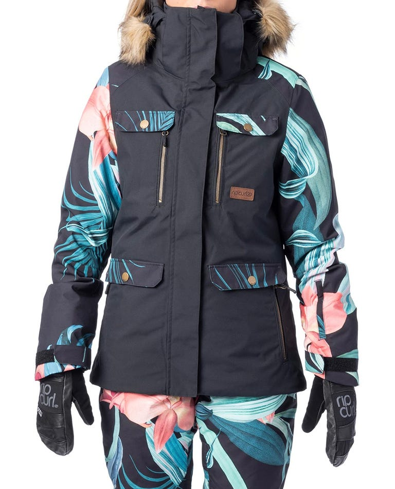 Chic Snow Jacket  in Loden Green