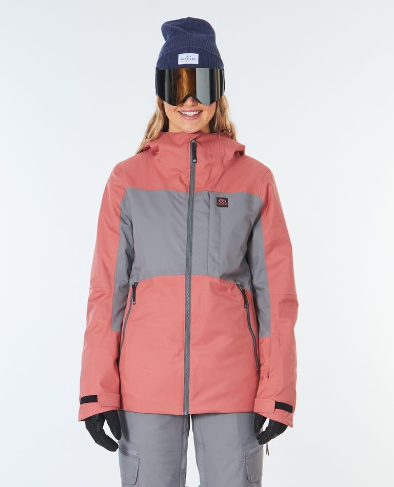 Womens Freeride Search Snow Jacket in Dusty Cedar