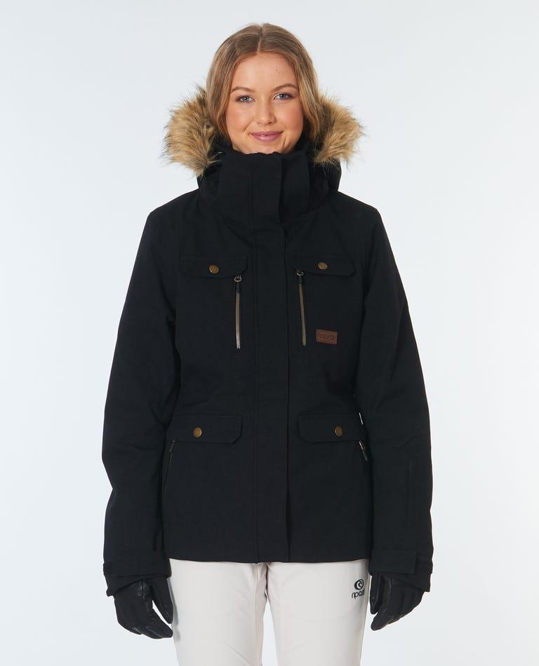 Chic Snow Jacket in Jet Black