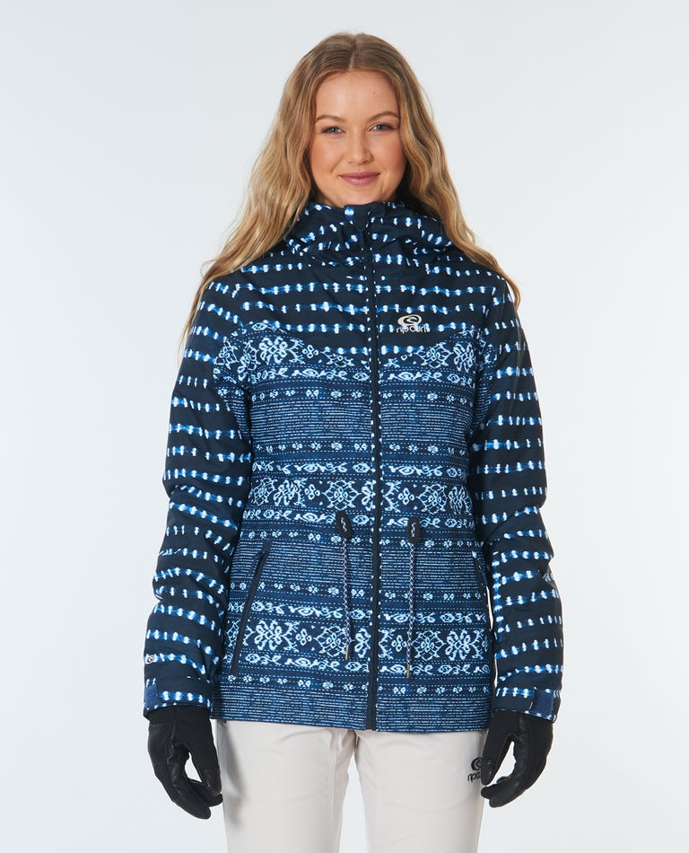 Betty Snow Jacket in Mid Blue Wash