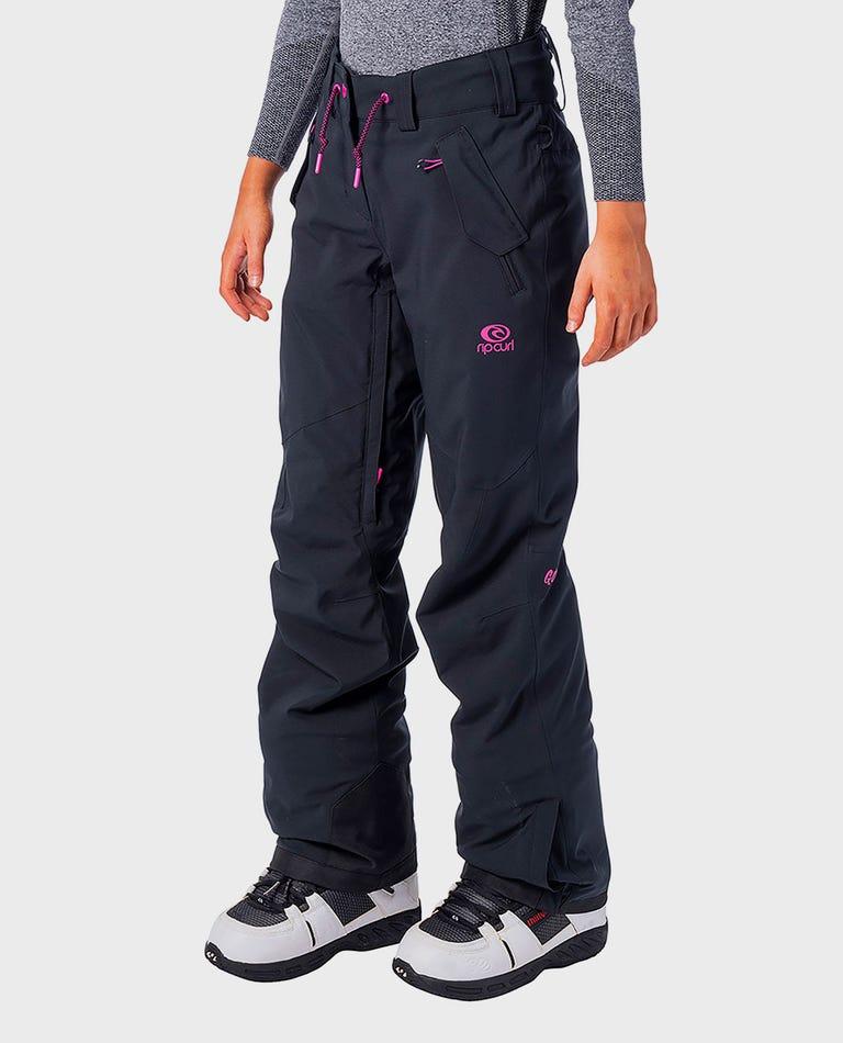 Womens Gum Snow Pants  in Jet Black