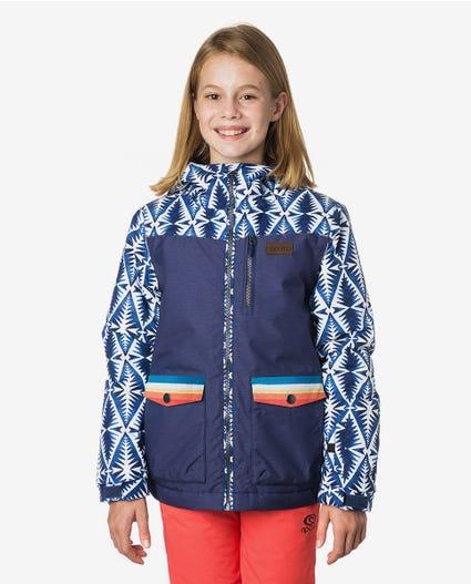 Snake Printed Mountainwear Snow Jacket in Patriot Blue