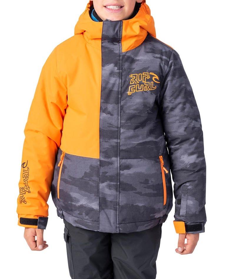 Olly Plain Snow Jacket in Persimon Orange