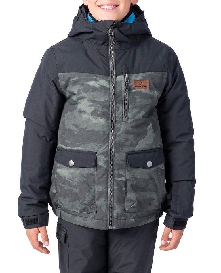 Kids Snake Snow Jacket in Loden Green