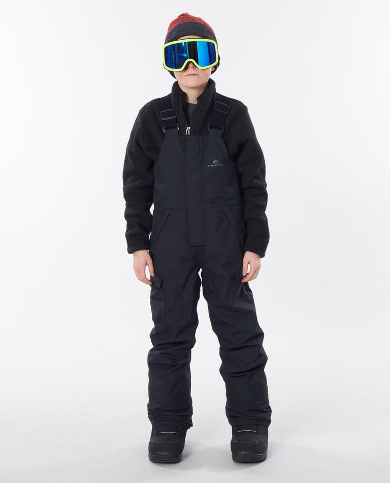 Junior Bib Pants in Jet Black