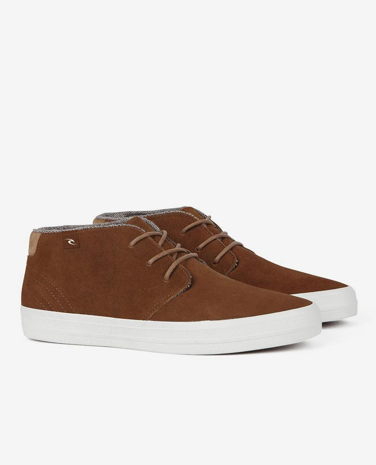 Rekkon Leather Shoe in Tobacco