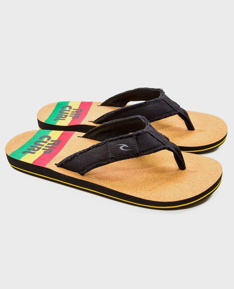 Unravel Sandals in Black/Multi