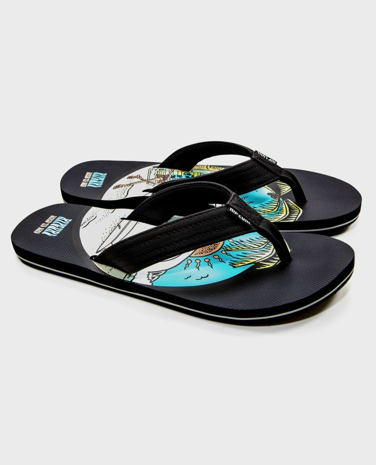 Ripper Madsteez Sandals in Black/Multi