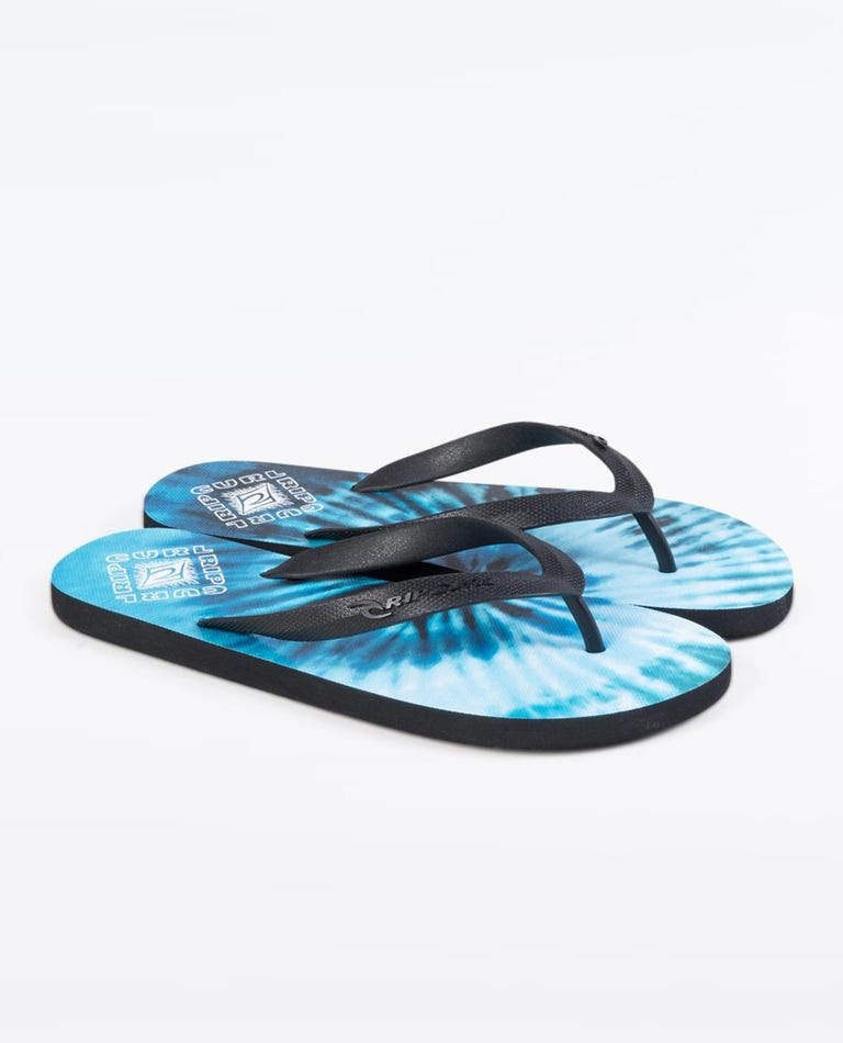Drifter Thong in Black/Blue