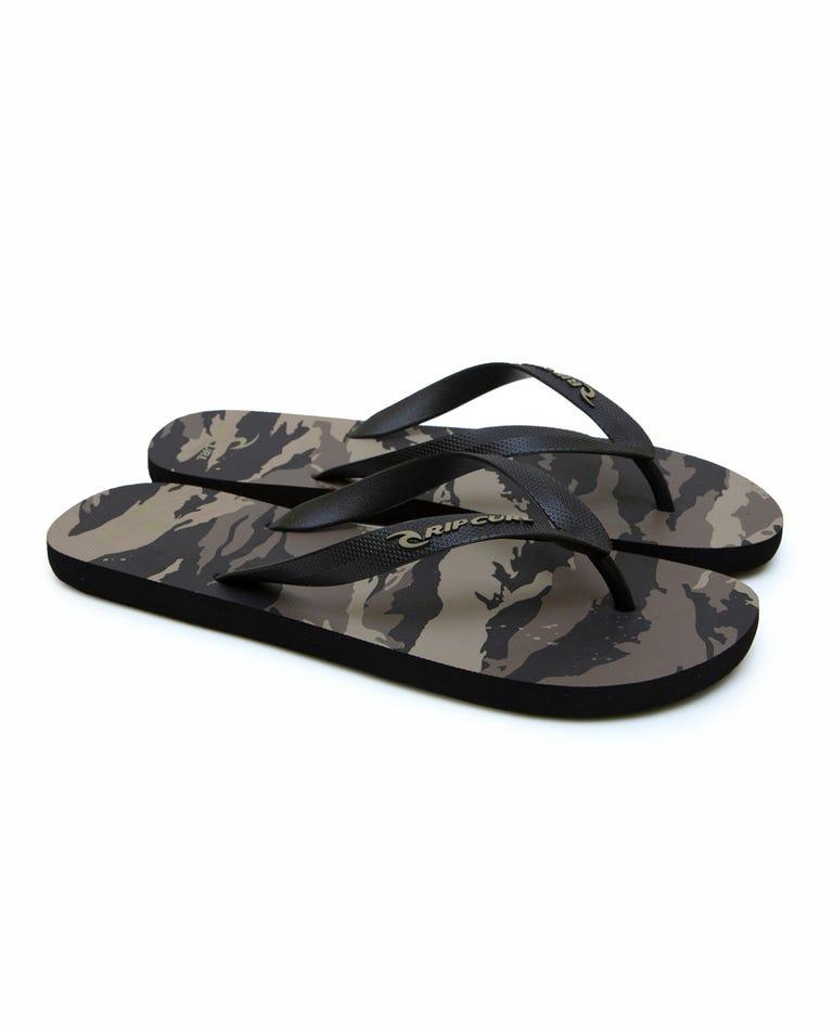 Stealth Camo Sandals in Khaki