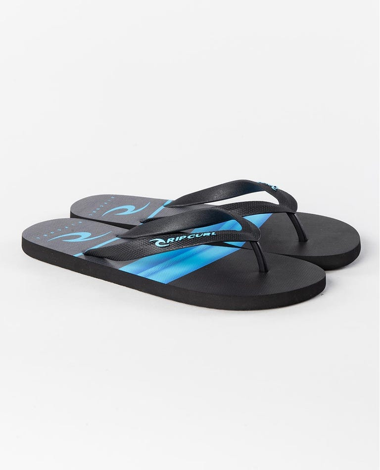 Hawken Thongs in Black/Blue