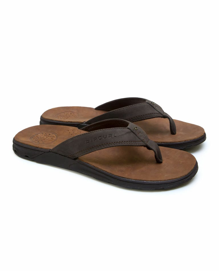 Ultimate Leather Sandals in Brown/Brown