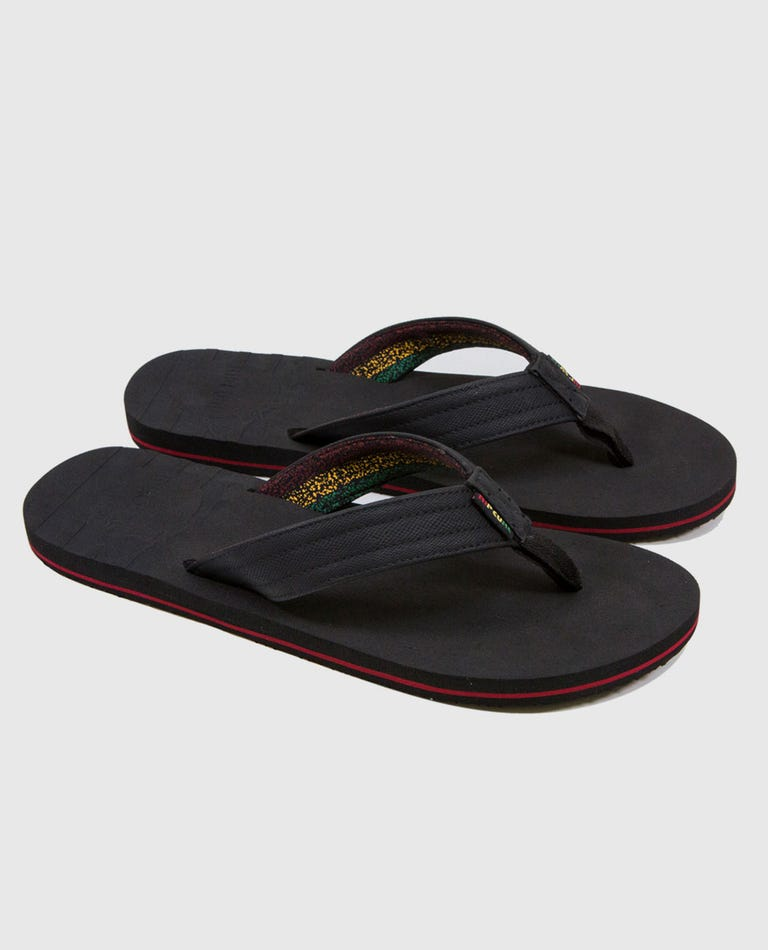 The Groove Sandals in Black/Red