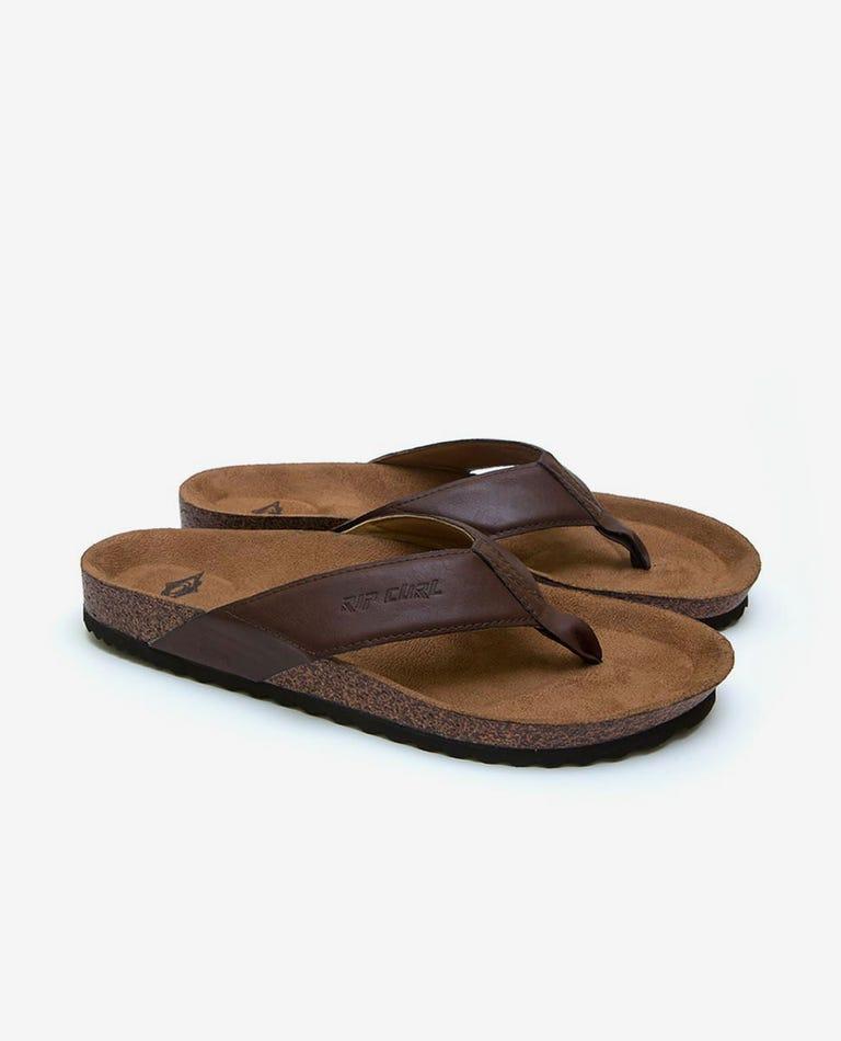 Foundation Thongs in Brown/Tan