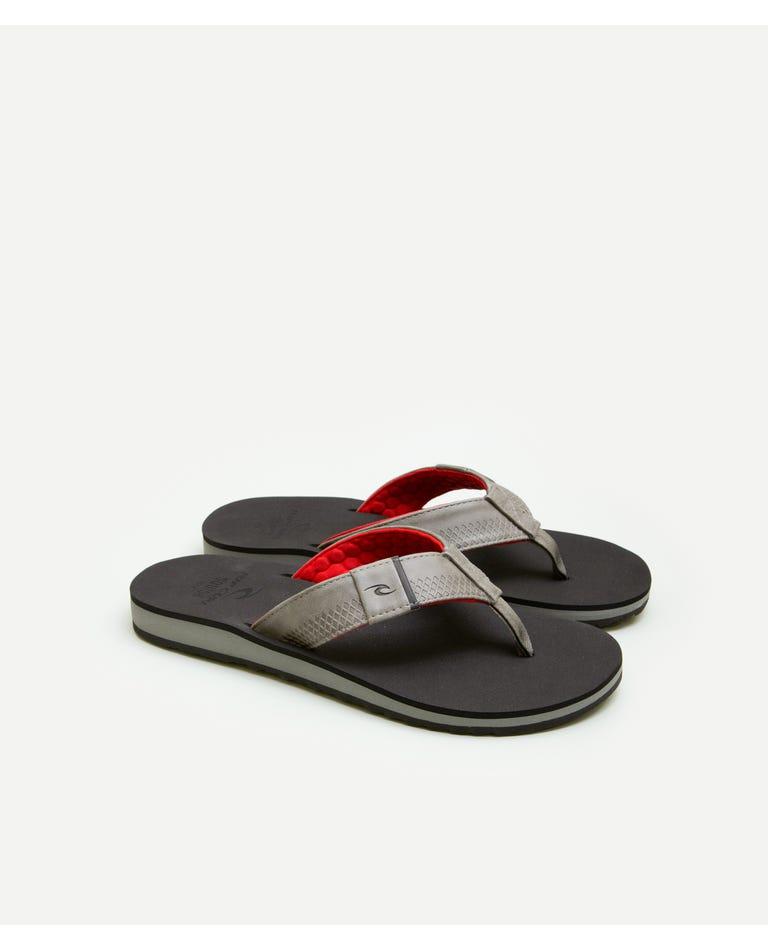 P-Low 2 Thongs in Grey/Black/Red