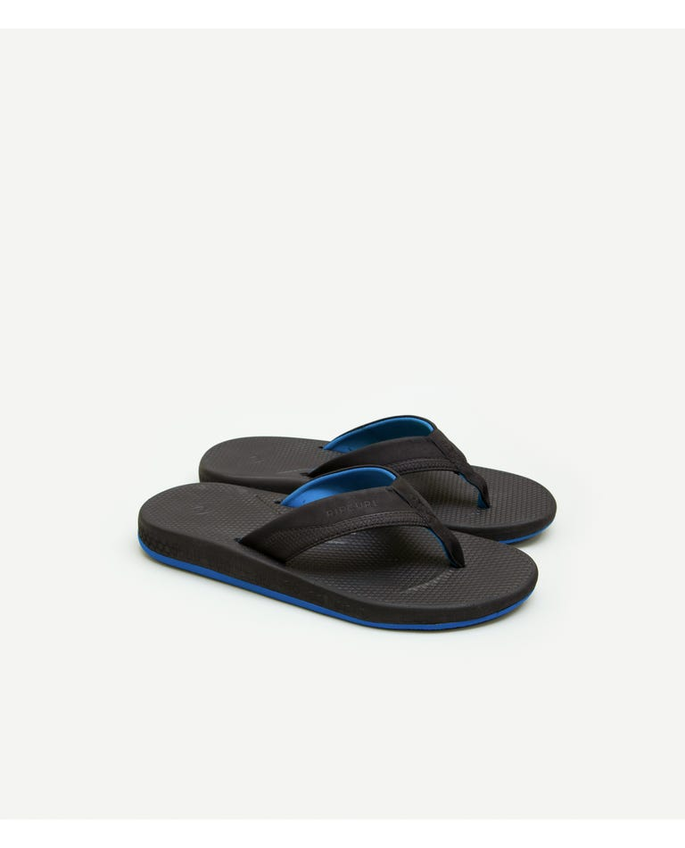 Sonar Sandals in Black/Blue