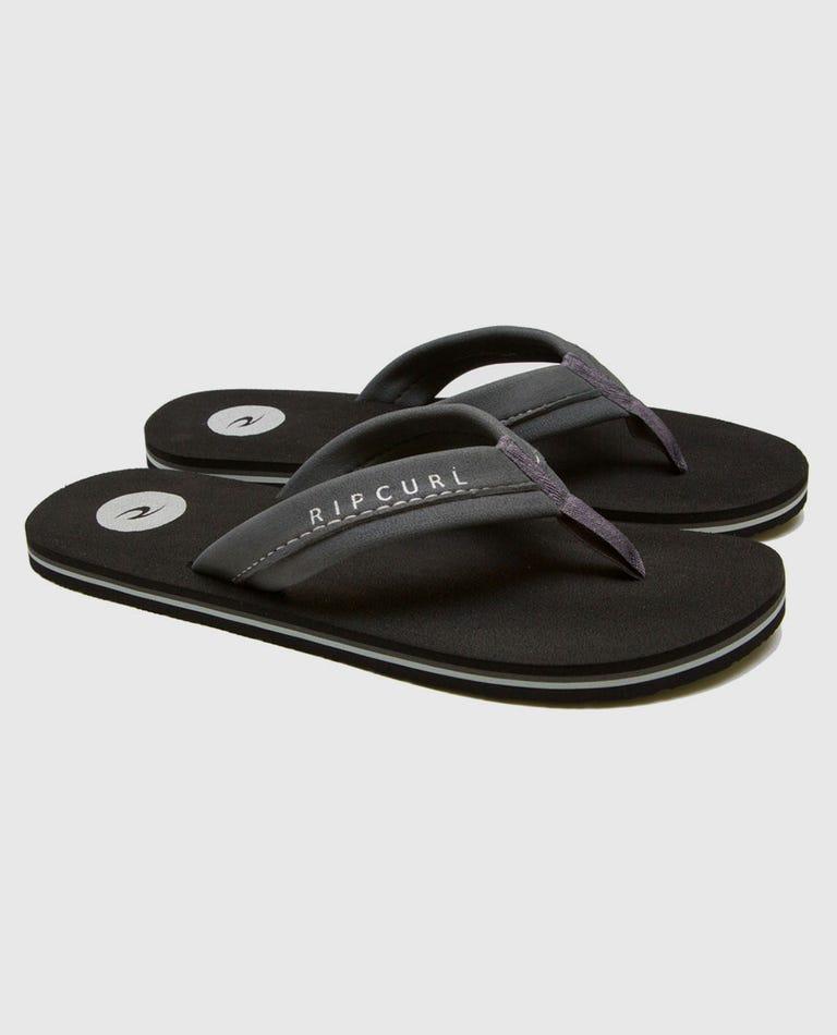 Mavs Sandals in Black/Grey