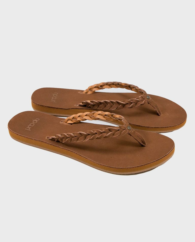 Riviera Maya Sandals in Chestnut