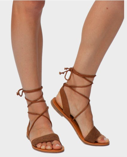 Rosy Sandals in Chestnut