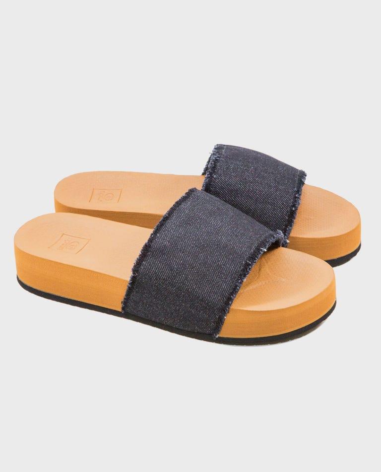 Pool Party Slide Sandals in Black