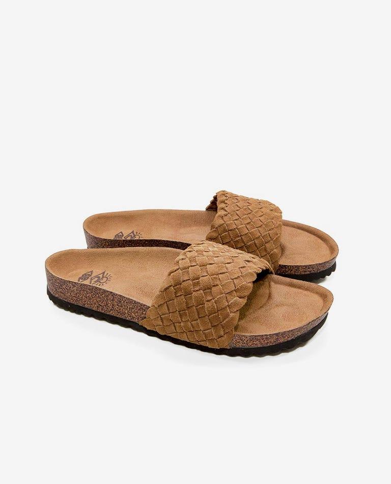 Marbella Sandals in Chestnut