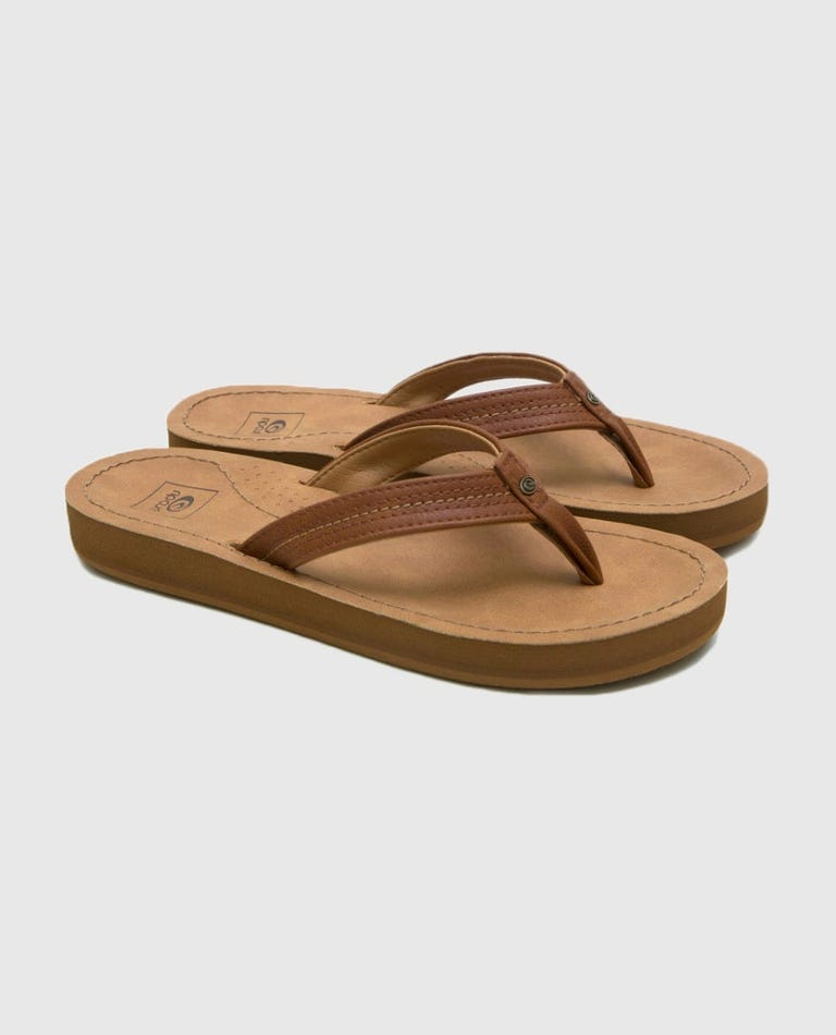 Cardiff Sandles in Tobacco Brown