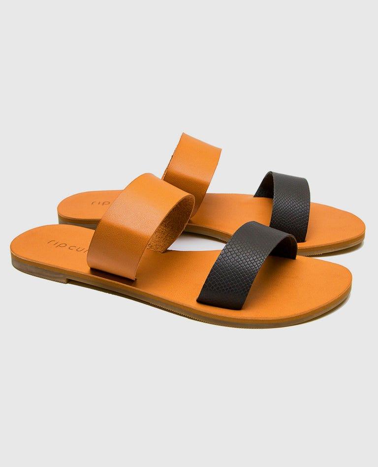 Tallows Sandals in Black/Tan