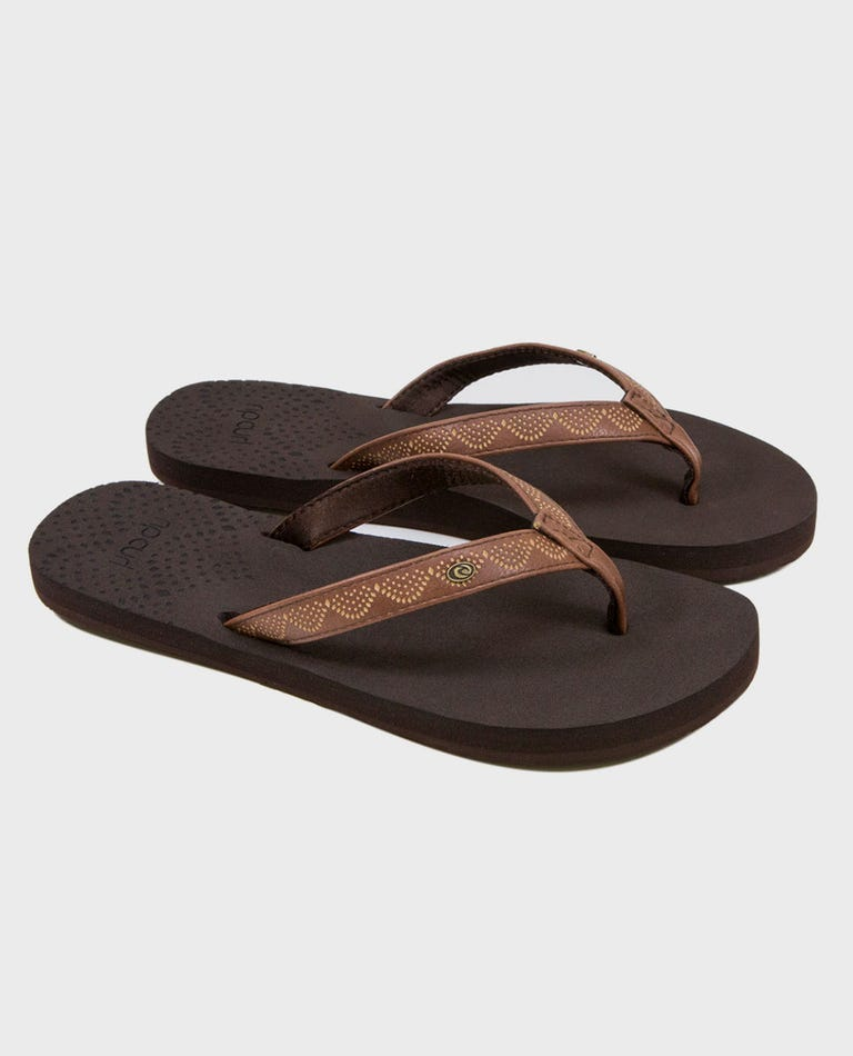 P-Low Girls Sandals in Brown