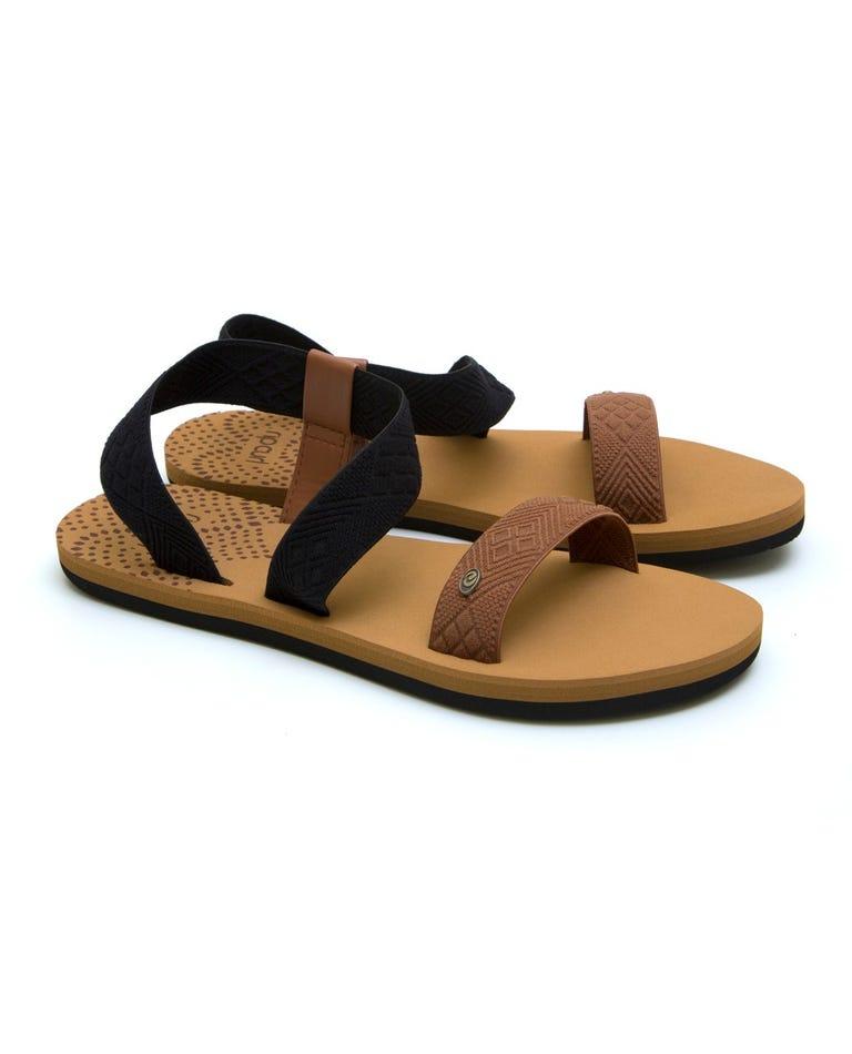 P-Low Paradise Sandals in Tan/Black