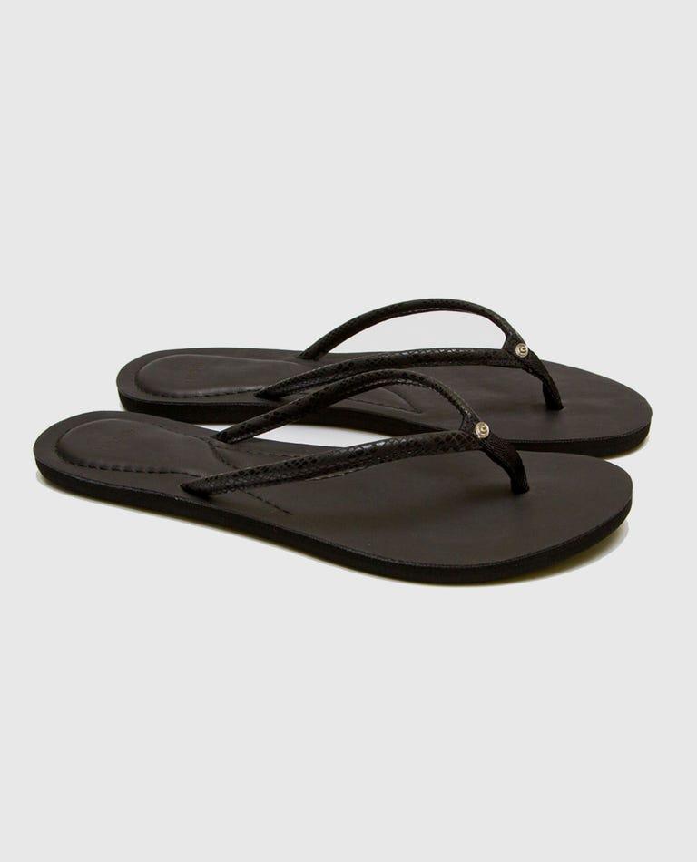 Luna Sandals in Black/Black