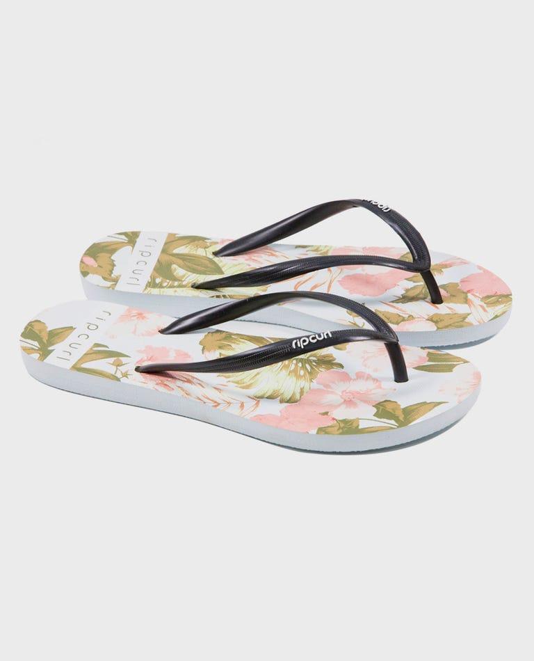 Hanalei Printed Sandals in White