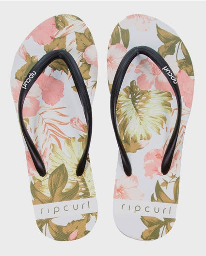 Hanalei Printed Sandals in White