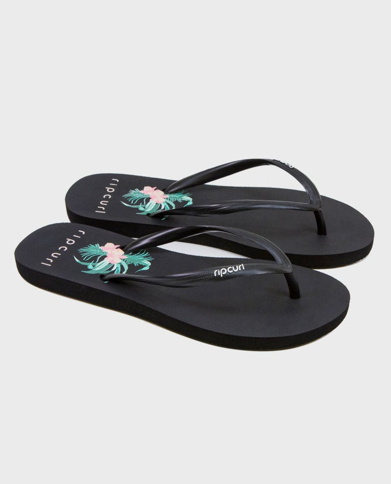 Cloud Break Sandals in Black