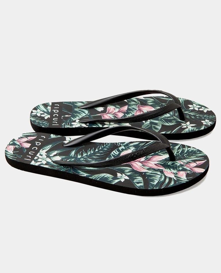 Tropic Heat Sandal in Black