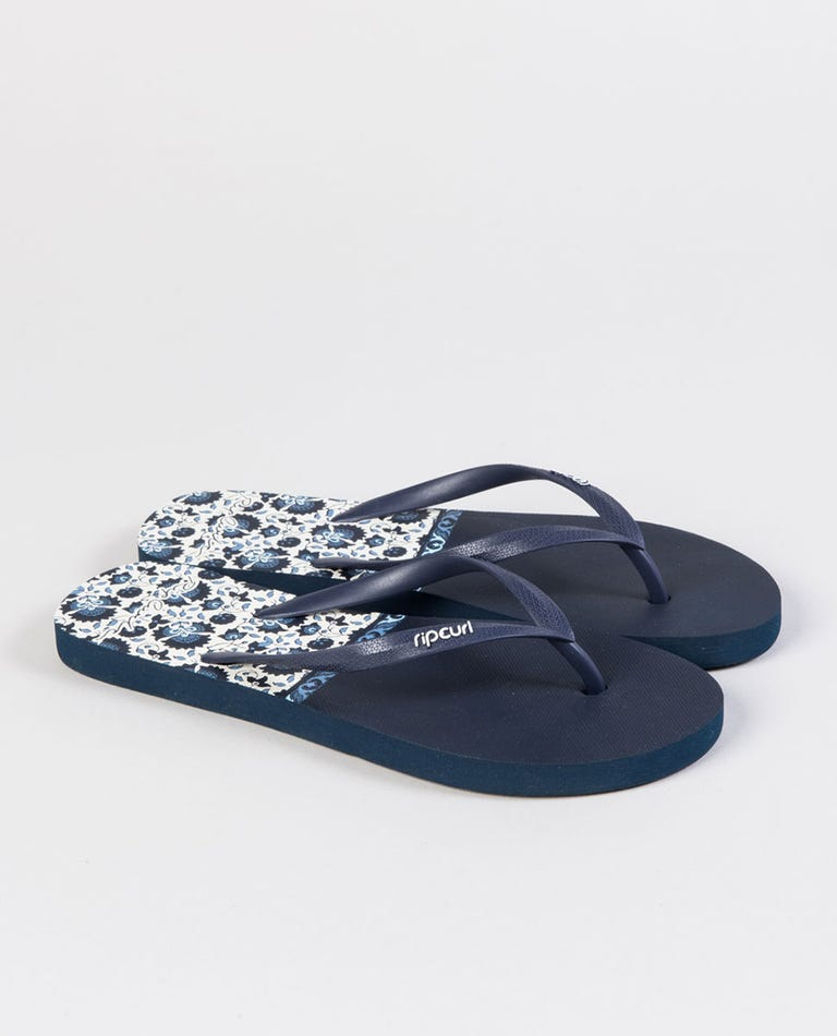 Spice Temple Thongs in Navy