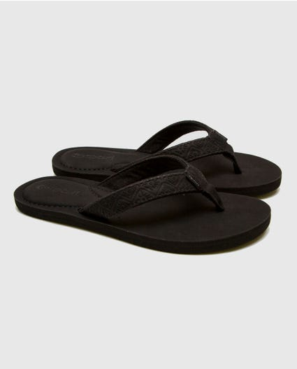 Offset Girls Sandals in Black/Black