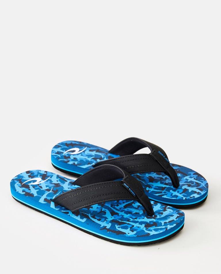 Ripper Kids Sandals in Blue