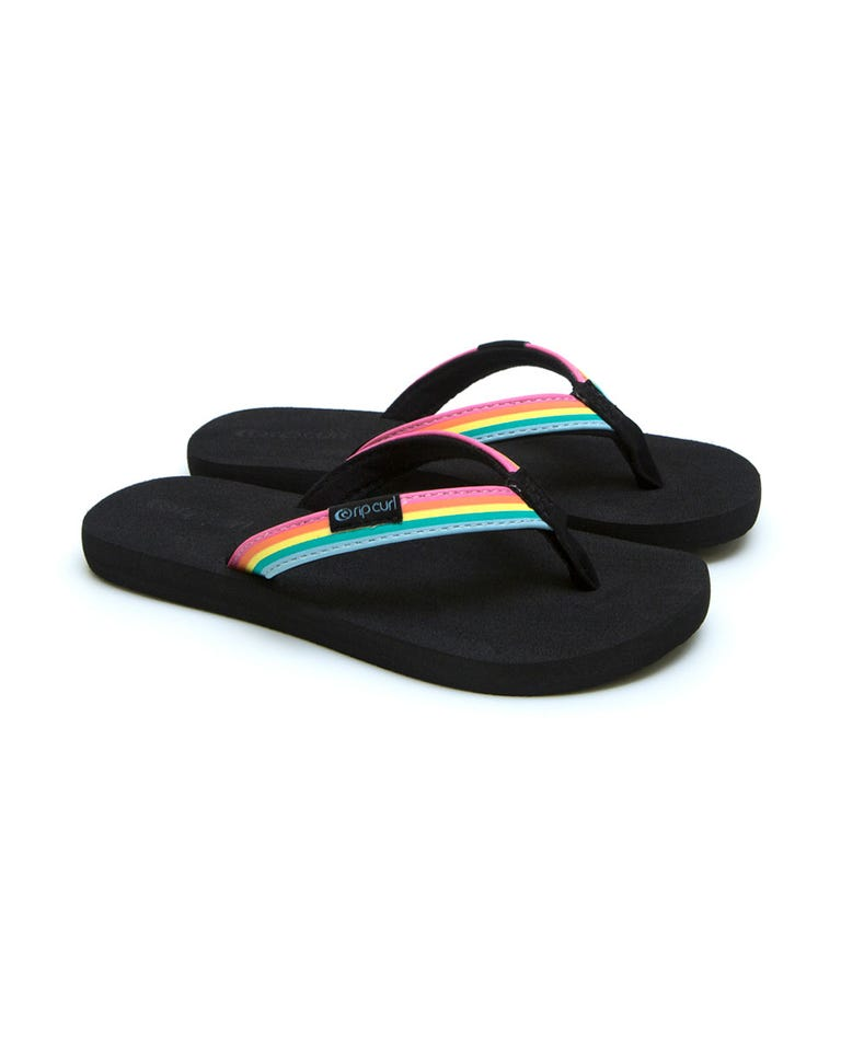 Freedom Mini Girls Sandals in Multi/Black