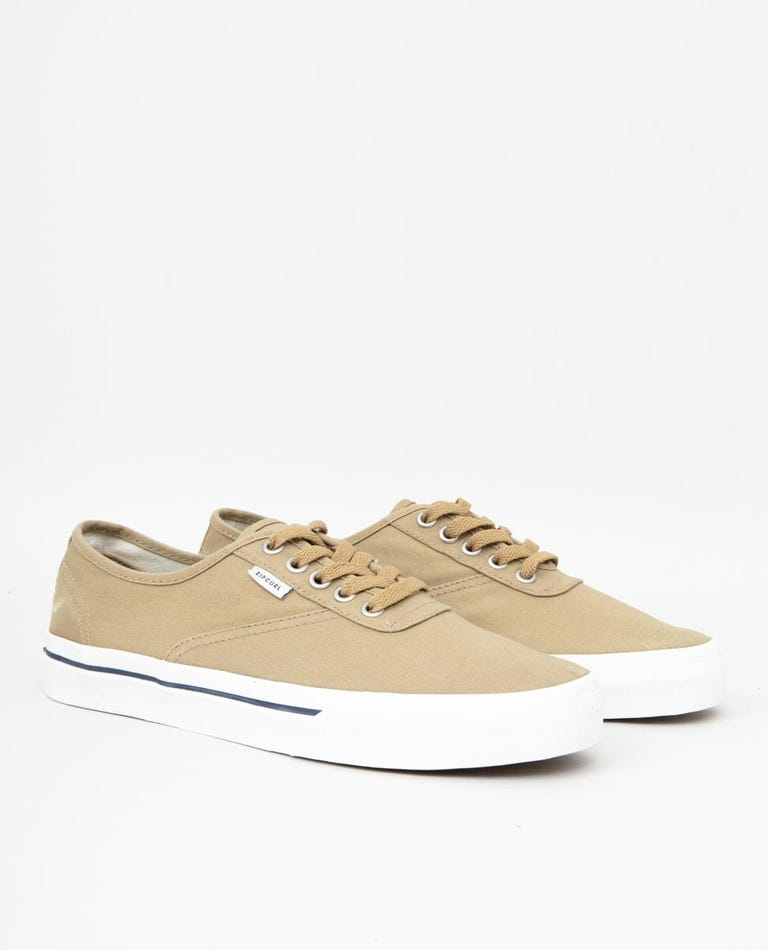 Tracks Sneaker in Khaki/White/Navy