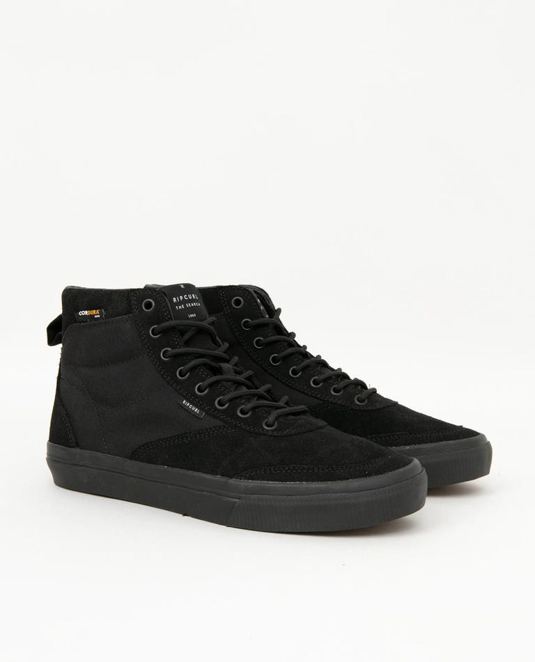 Tracks Plus High Cordura Shoe in Black/Black/Charcoal