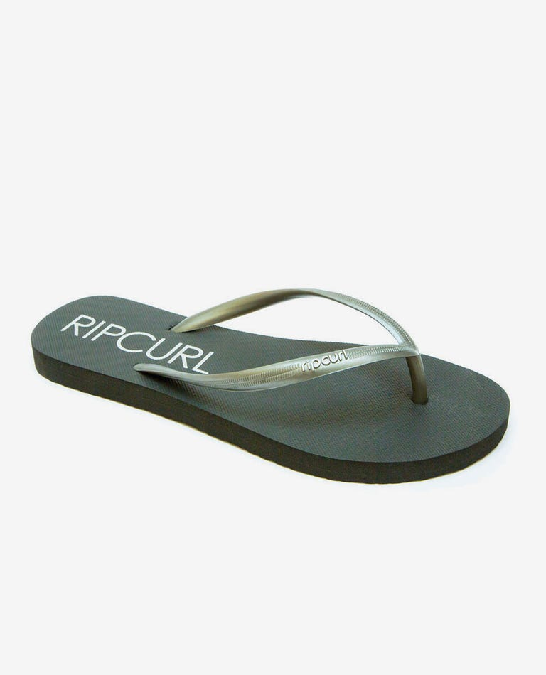 Bondi Thongs in Charcoal Grey