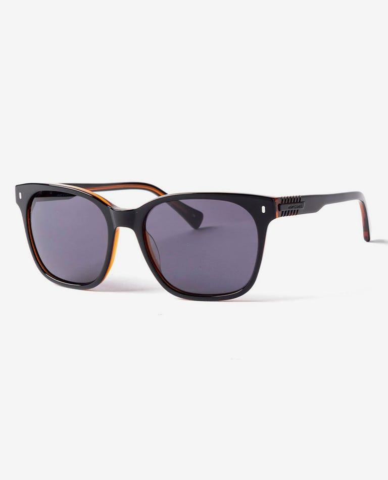 Hollaback Sunglasses in Black/Bourbon
