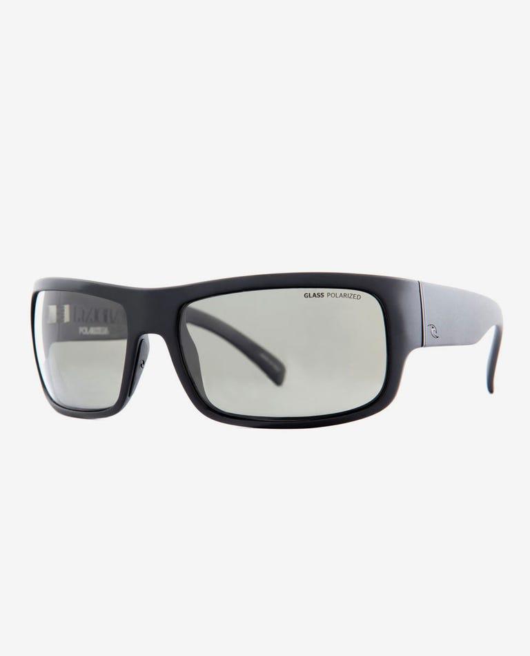 Raglan 8 Polarized Glass Sunglasses in Matt Black