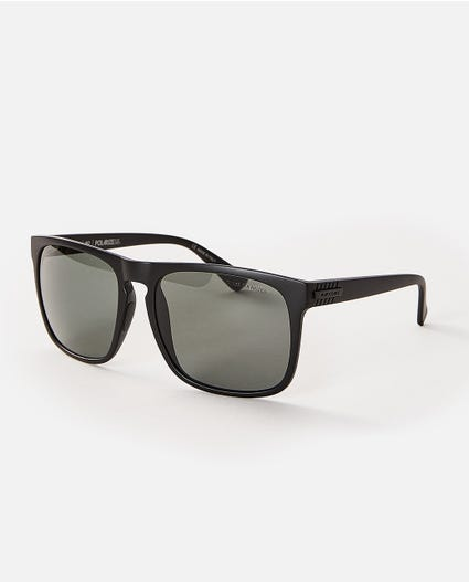 Century Polarized Glass Sunglasses in Matt Black