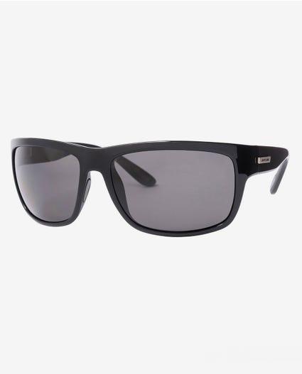 Glide Polarized Glass Sunglasses in Matt Black