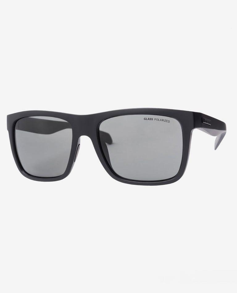 Dazed Polarized Glass Sunglasses in Matt Black
